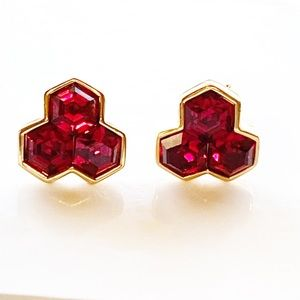 Vintage Swarovski Red Crystal Earrings